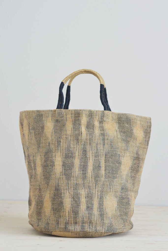 Jute bag: Indigo ikat - Bags - Decorator's Notebook