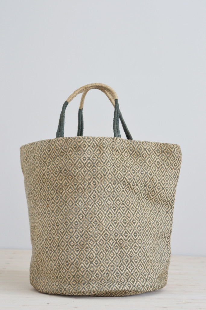Jute bag: Grey diamonds - Bags - Decorator's Notebook