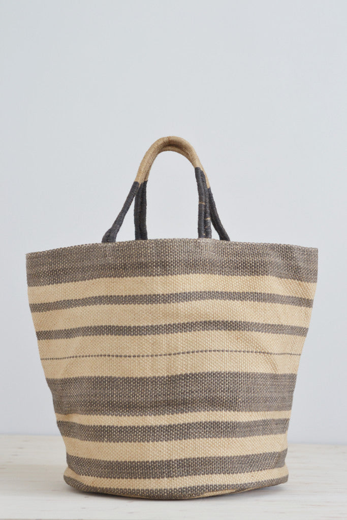 Jute bag: Grey multistripe - Bags - Decorator's Notebook