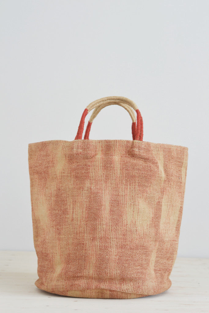 Jute bag: Red ikat