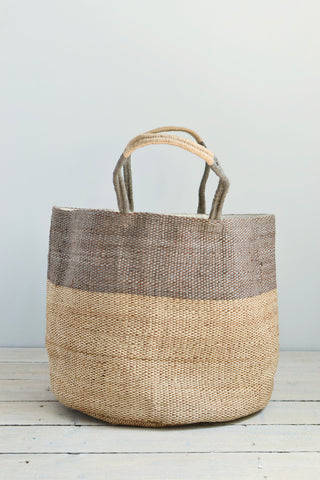 Jute bag: Grey top