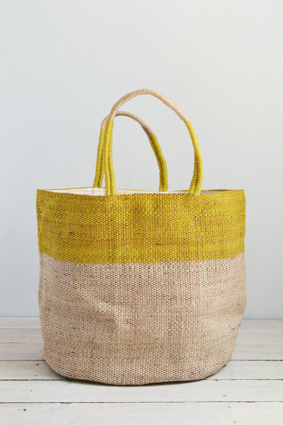 Jute bag: Yellow top - Bags - Decorator's Notebook