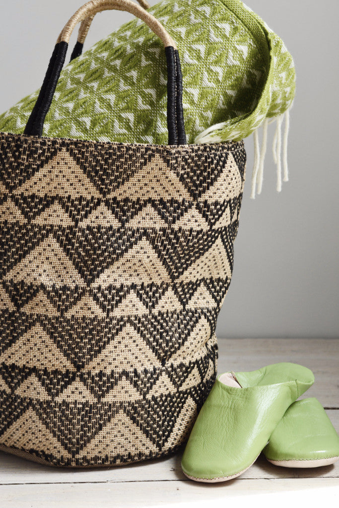 Jute bag: Black triangles