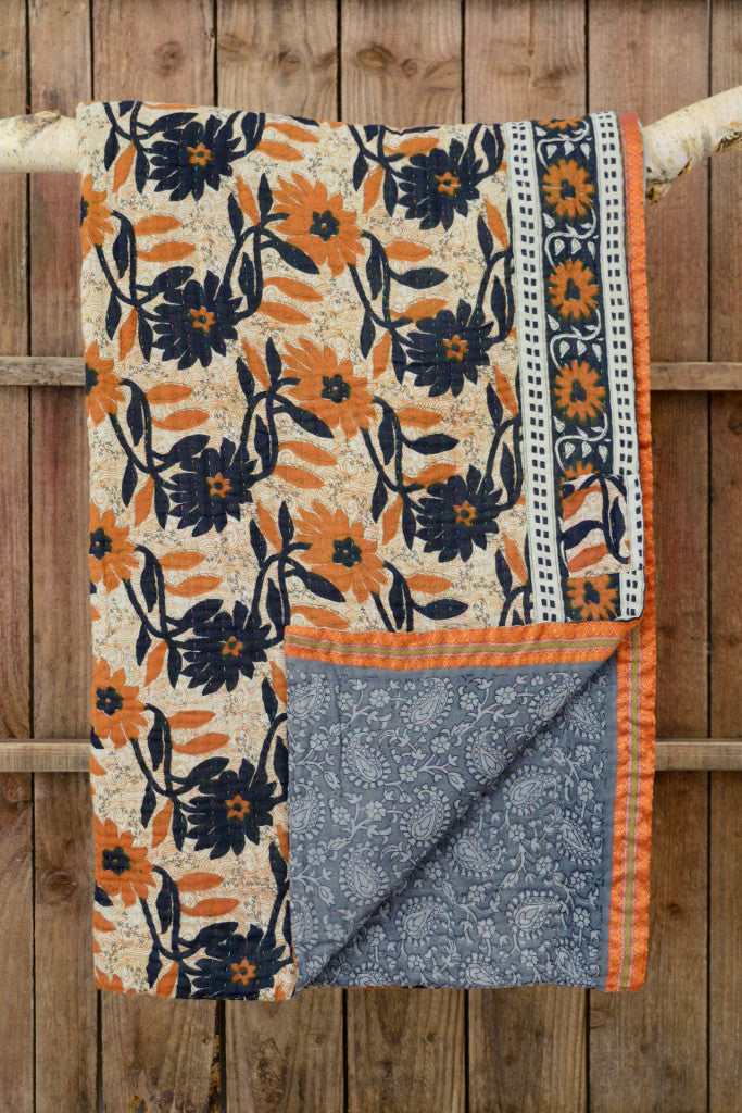 Kantha quilt 13: by Shima - Sold - Decorator's Notebook