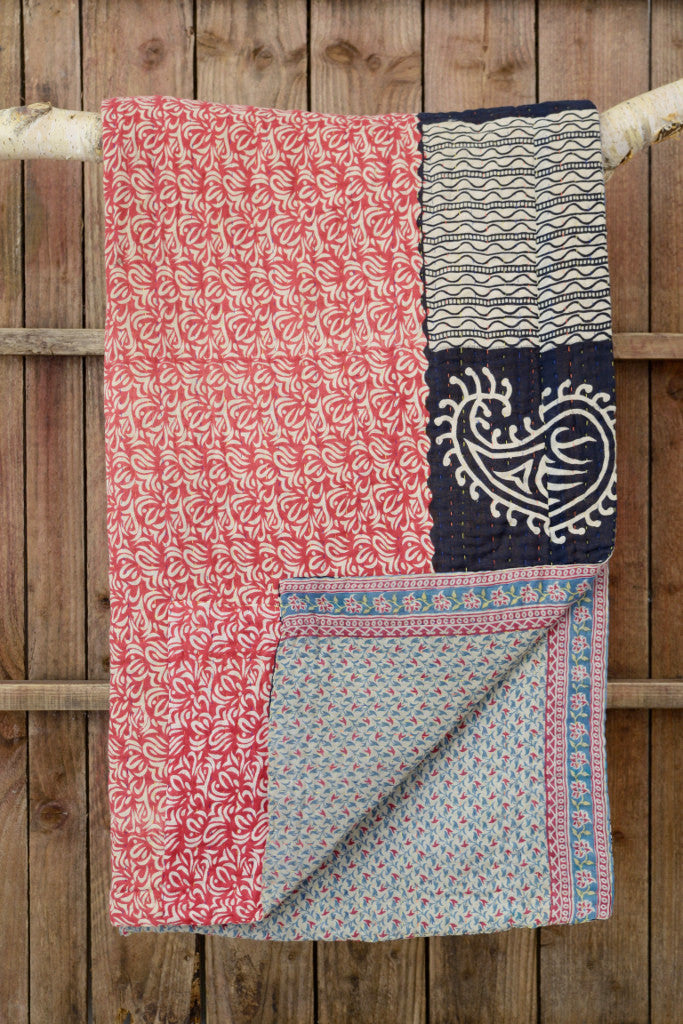 Kantha quilt 14: by Shati - Sold - Decorator's Notebook