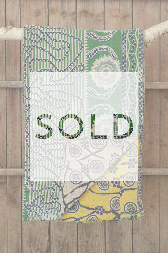 Kantha quilt 17: by Israt - Sold - Decorator's Notebook