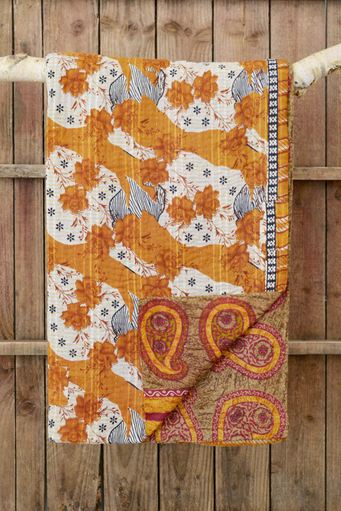Kantha quilt 19: by Asma
