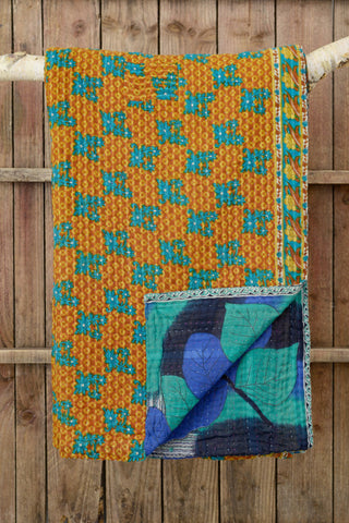 Kantha quilt 8: by Shati