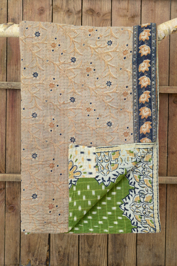 Kantha quilt 2: by Jahanara - Sold - Decorator's Notebook