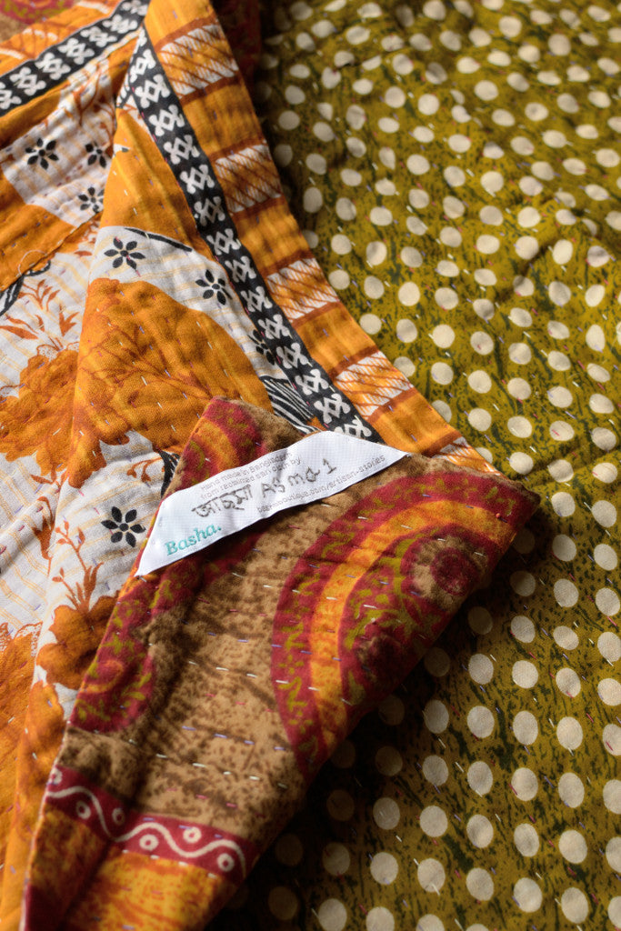 Kantha quilt 19: by Asma - Sold - Decorator's Notebook