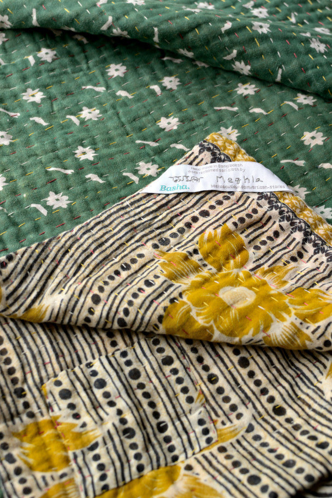 Kantha quilt 1: by Meghla - Sold - Decorator's Notebook