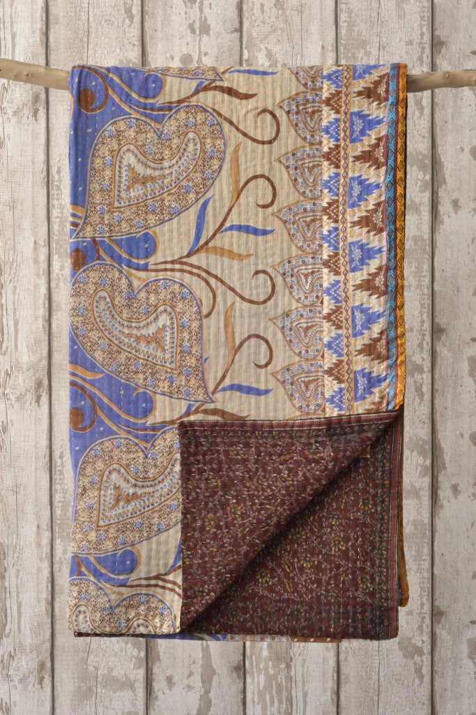 Kantha quilt 17: by Maksuda - Throws and Quilts - Decorator's Notebook