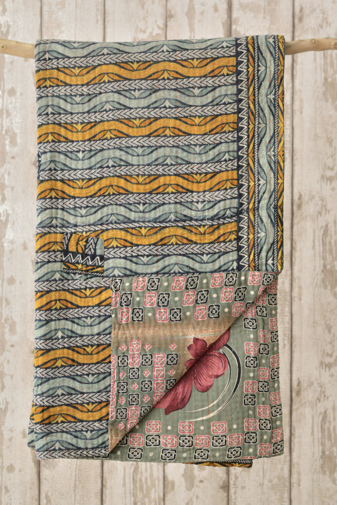 Kantha Quilt 28: by Asma