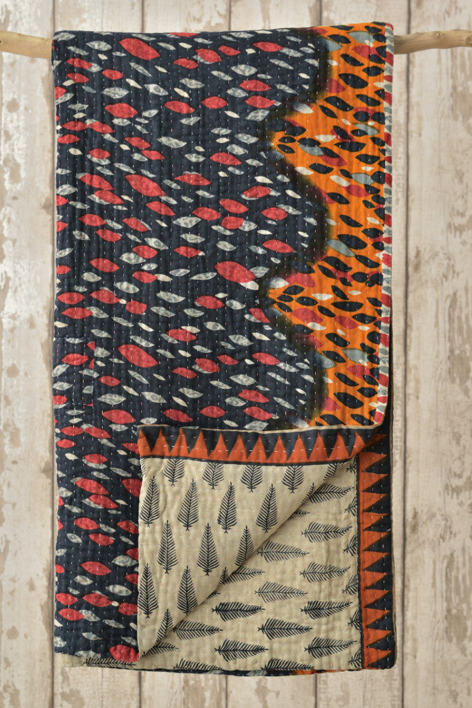 Kantha Quilt 5: by Shati