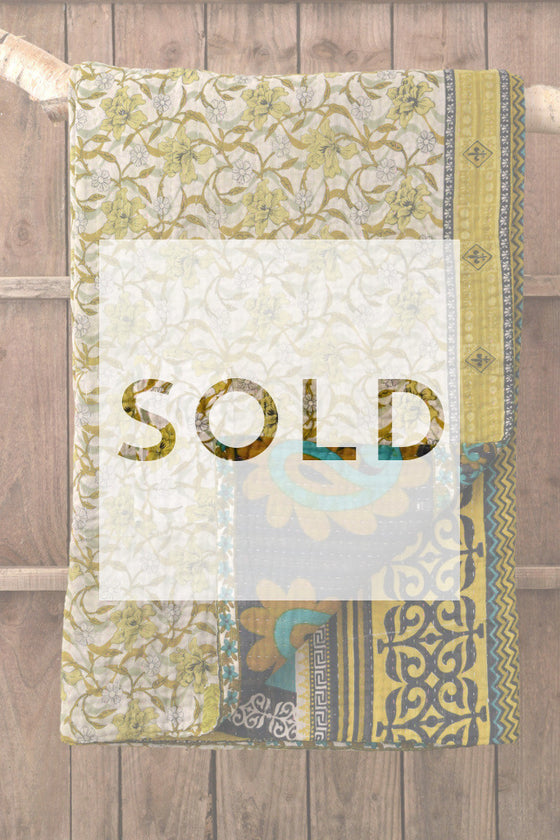 Kantha Quilt 12: by Shima - Sold - Decorator's Notebook