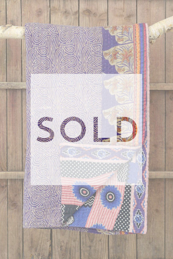 Kantha quilt 5: by Asma - Sold - Decorator's Notebook