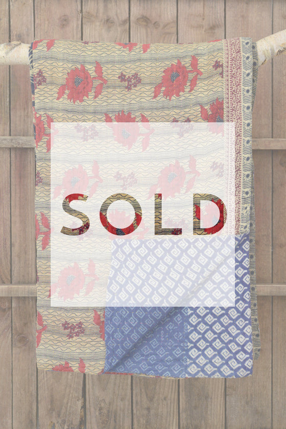 Kantha quilt 11: by Shima - Sold - Decorator's Notebook