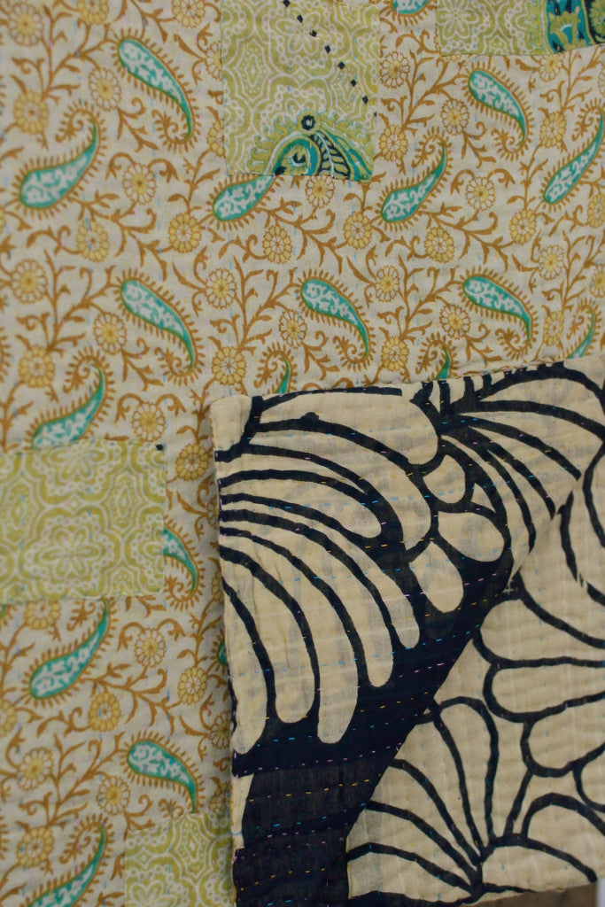 Kantha quilt 16: by Taslima - Sold - Decorator's Notebook