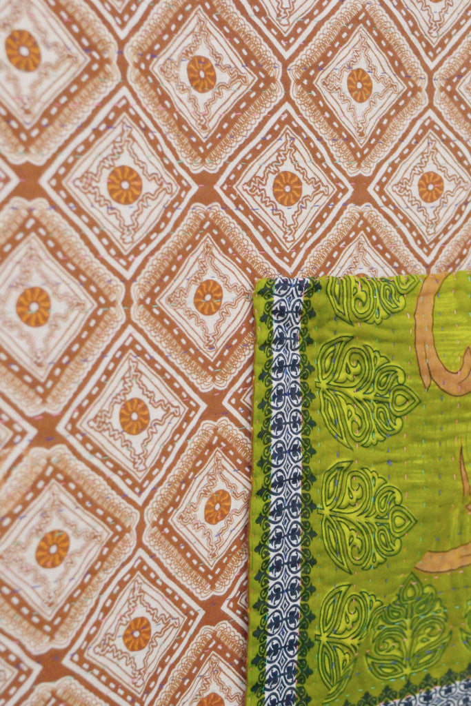 Kantha quilt 3: by Taslima - Sold - Decorator's Notebook