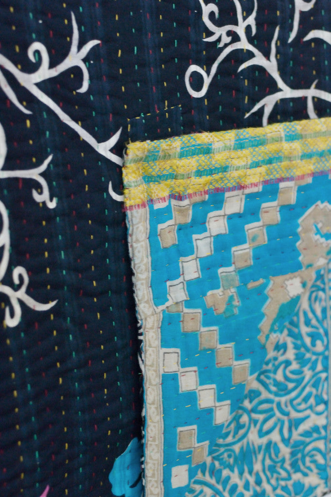 Kantha quilt 4: by Munni - Sold - Decorator's Notebook