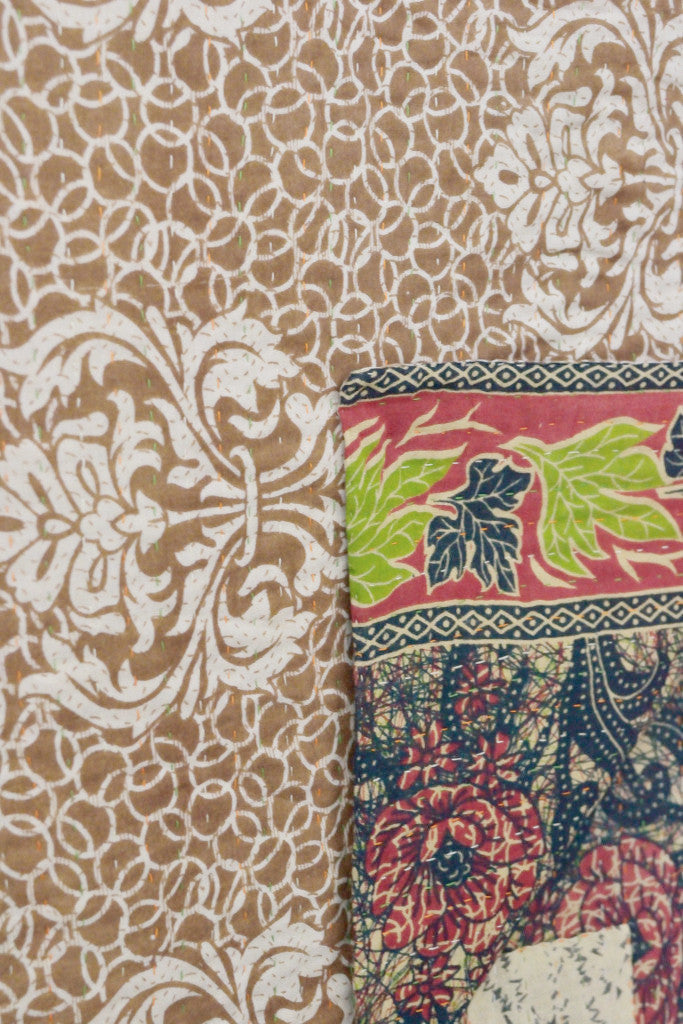 Kantha quilt 6: by Israt - Sold - Decorator's Notebook