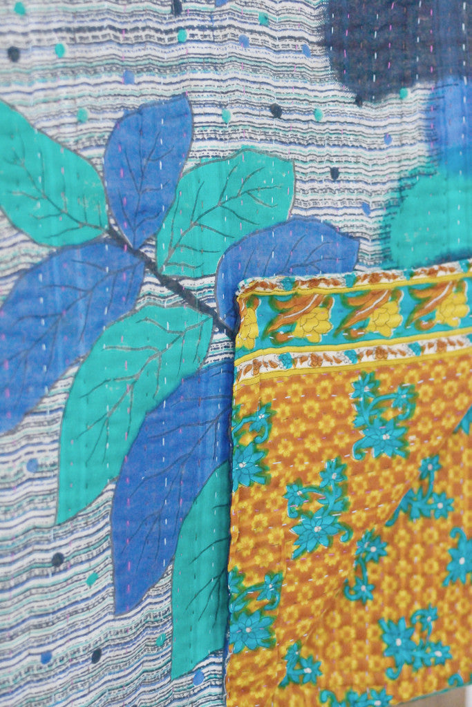 Kantha quilt 8: by Shati - Sold - Decorator's Notebook