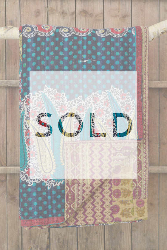 Kantha quilt 15: by Amena - Sold - Decorator's Notebook