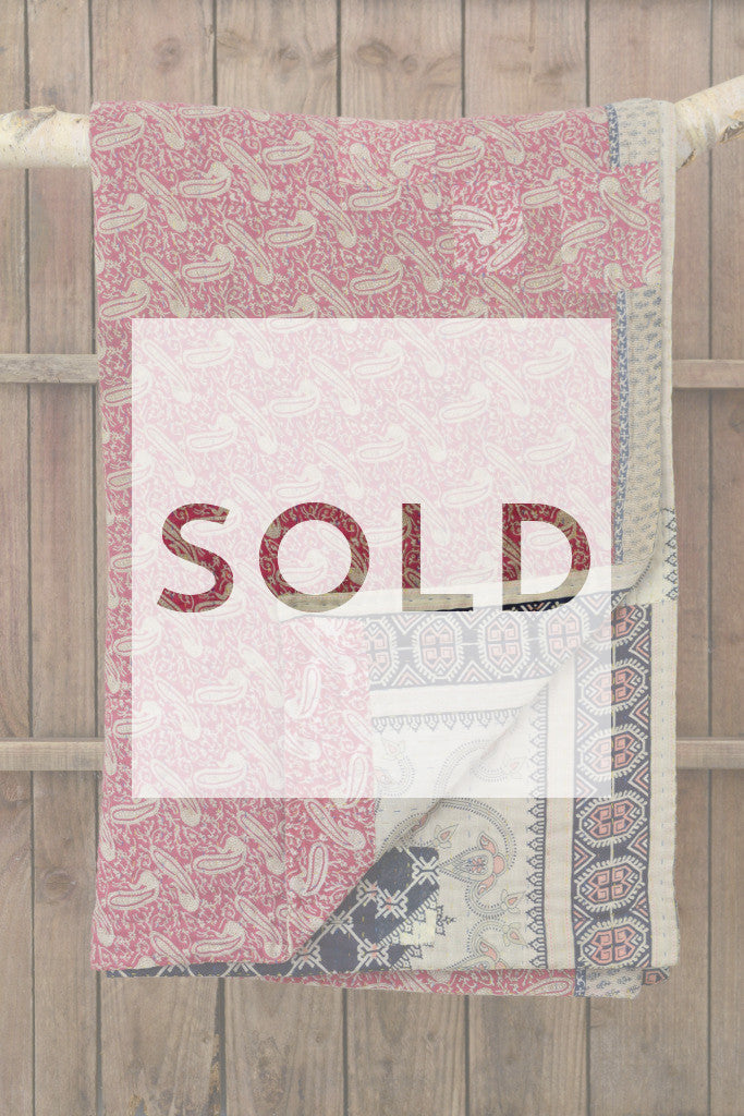 Kantha quilt 10: by Maksuda - Sold - Decorator's Notebook