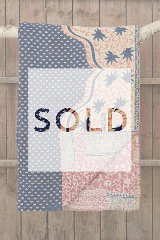 Kantha quilt 20: by Jahanara - Sold - Decorator's Notebook