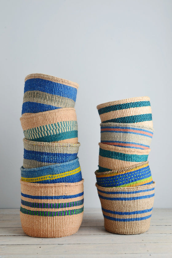 Kenyan basket: Blue Collection
