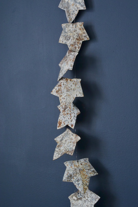 Aged zinc leaf garland 190cm - Décor and Vases - Decorator's Notebook