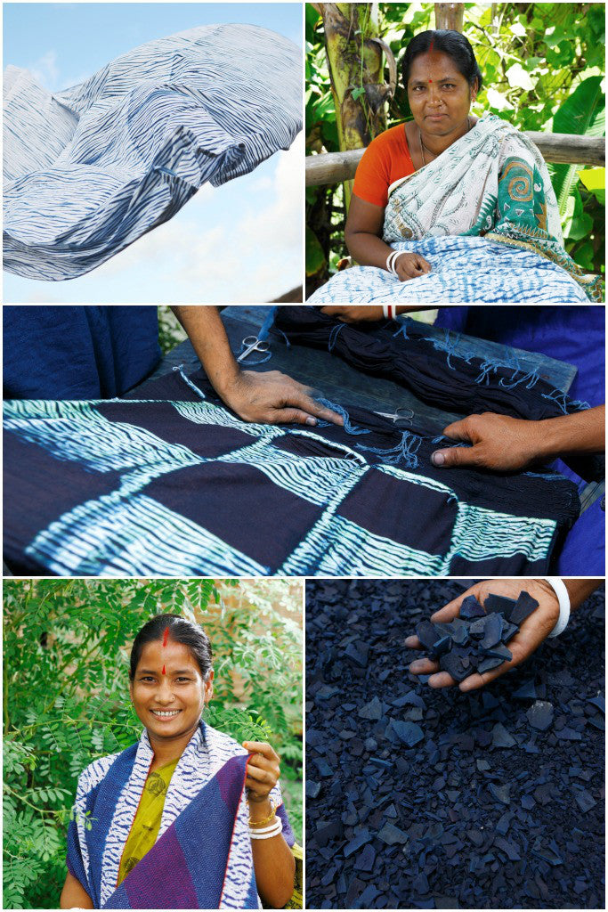 Indigo Shibori Cushion: Lateral - Cushions - Decorator's Notebook