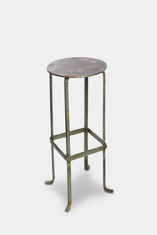 'Piro' green metal bar stool: tall