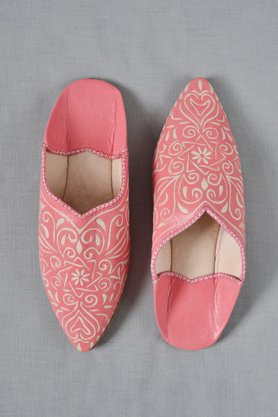 Ladies Moroccan Leather Slippers Coral Decorator S Notebook