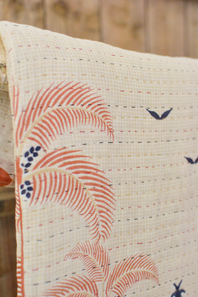 Kantha Quilt 23: by Shima - Sold - Decorator's Notebook