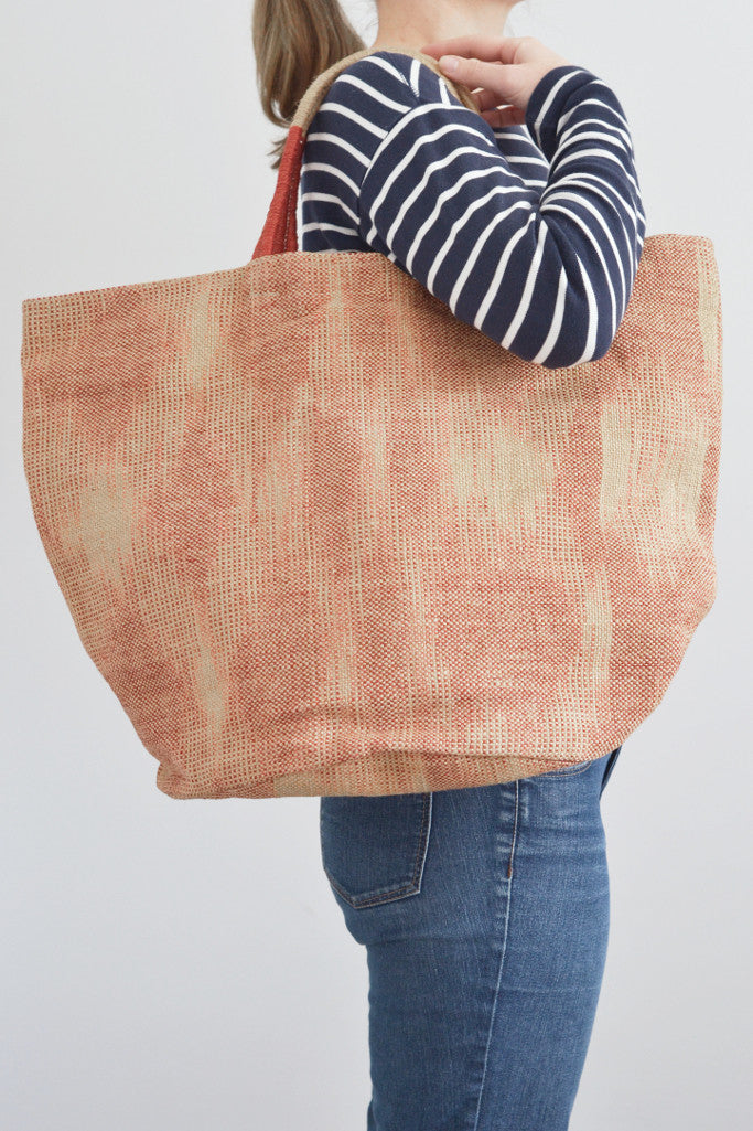 Jute bag: Red ikat - Bags - Decorator's Notebook
