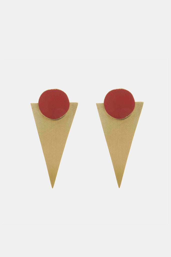 - Red Statement Stud earrings - Jewellery - Decorator's Notebook