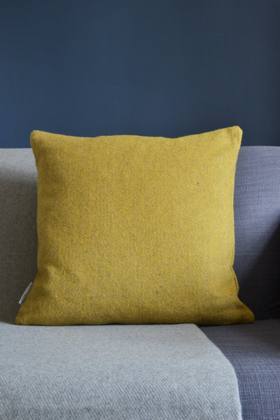 Woven wool cushion cover: Saffron Herringbone - Cushions - Decorator's Notebook