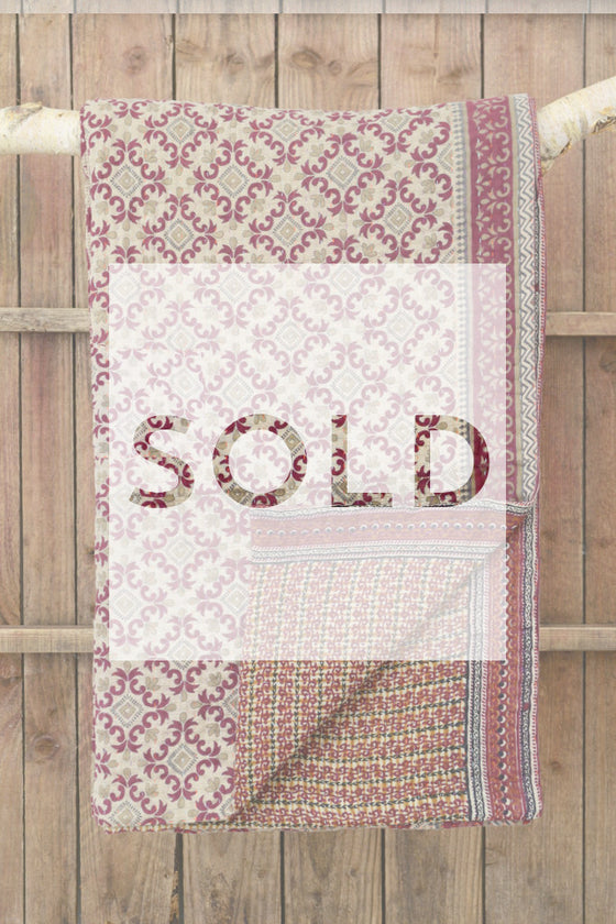Kantha quilt 12: by Nargis - Sold - Decorator's Notebook