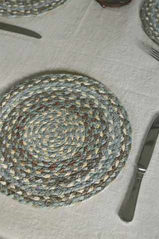 Seaspray braided placemats: set of six