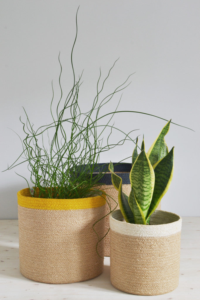 Tall nesting baskets: set of three