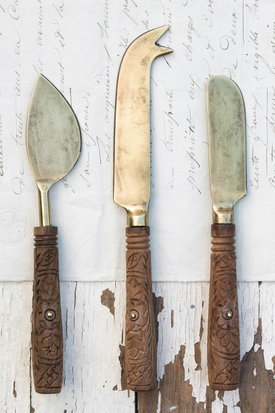 Cheese knives: set of three - Kitchen and Tableware - Decorator's Notebook