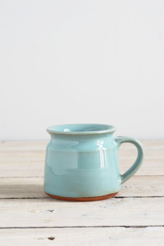 Short coffee cup: jade green