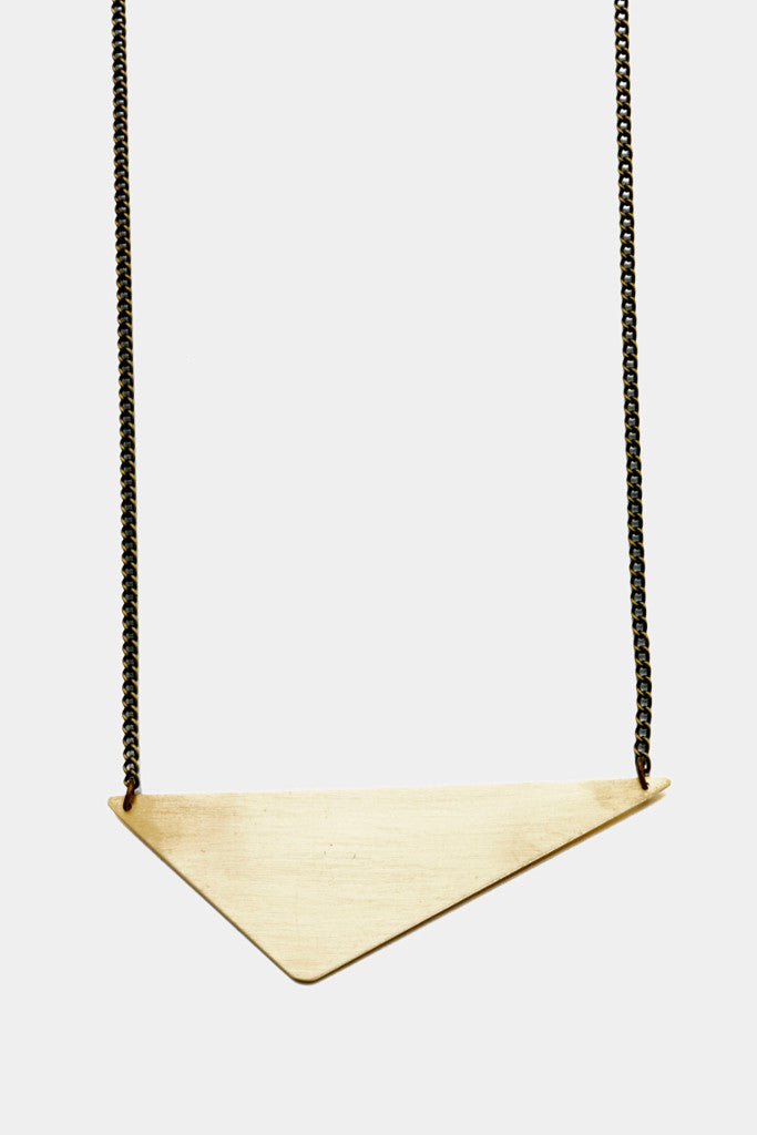 Offset Triangle necklace - Jewellery - Decorator's Notebook