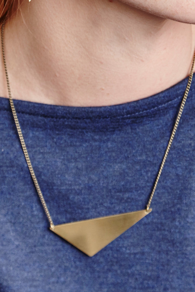 - Offset Triangle necklace - Jewellery - Decorator's Notebook