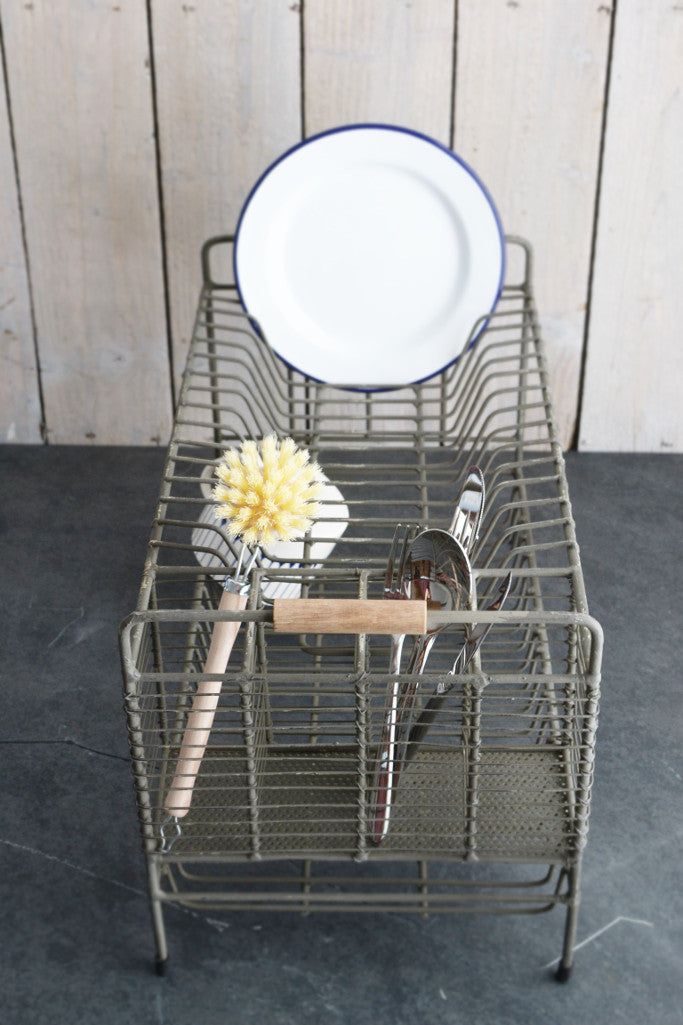 Vintage wire dish drainer rack - Kitchen and Tableware - Decorator's Notebook