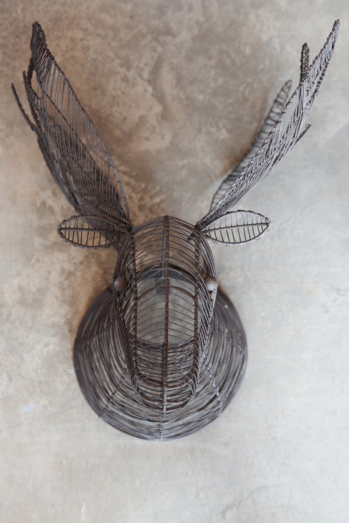 Wire Moose Head Wall Sculpture - Wall Art - Decorator's Notebook
