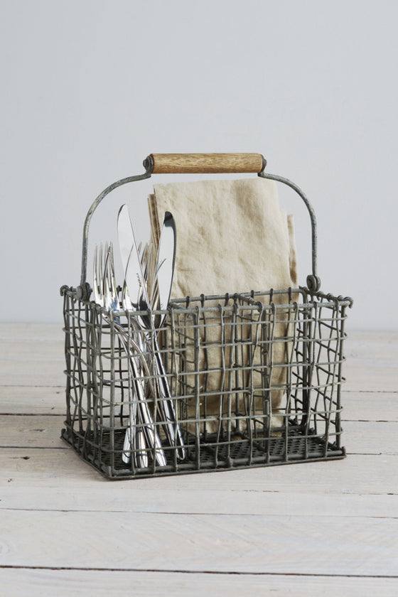 Vintage wire cutlery basket - Kitchen and Tableware - Decorator's Notebook