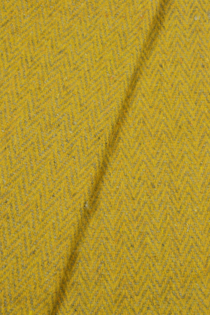 Woven wool cushion cover: Saffron Herringbone