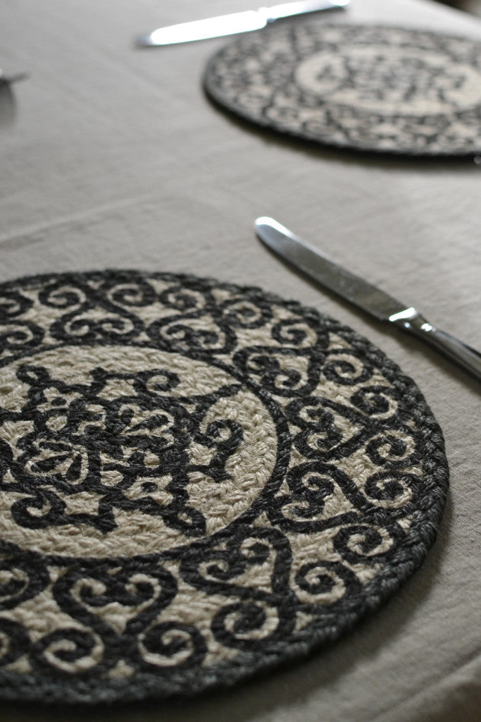 Railings braided placemats: set of six - Kitchen and Tableware - Decorator's Notebook